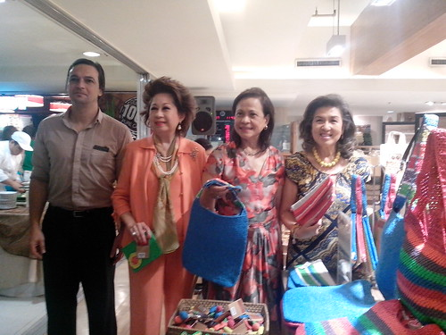 Crafts for a Cause: Zonta ladies with their bag products