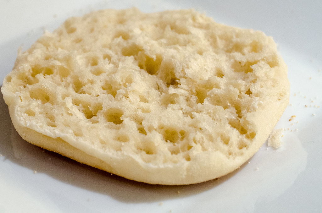 english muffins crumpets, plain, toasted, enriched, with calcium propionate (includes sourdough)