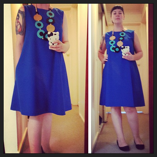And another dress completed!! I love this blue! #marimekko necklace #sewing #handmade
