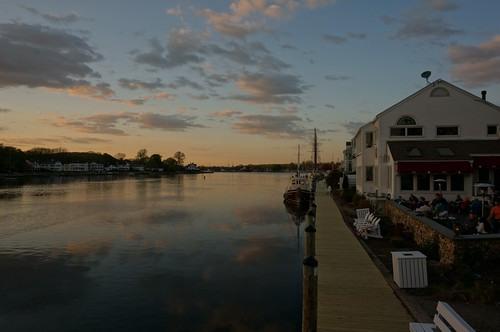 Mystic River at Sunset, Mystic, Connecticut
