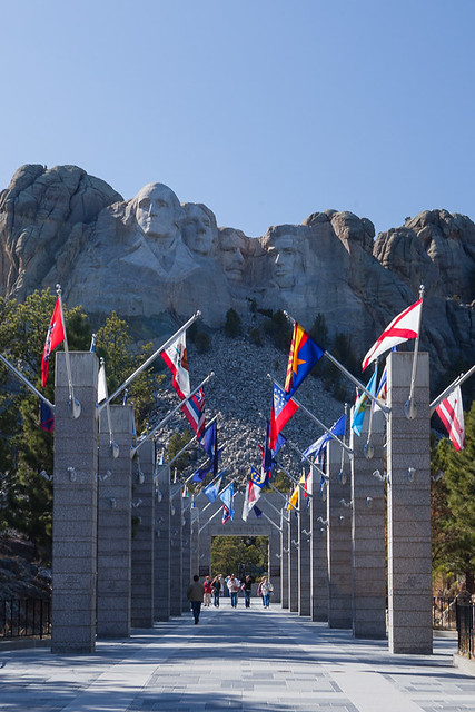 Flags at Mount Rushmore