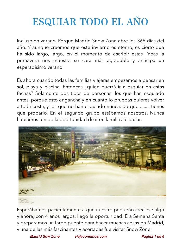 Sport Zone Madrid Esquí Nieve