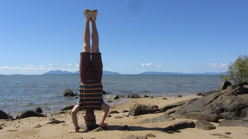 43. whitsunday islands headstand