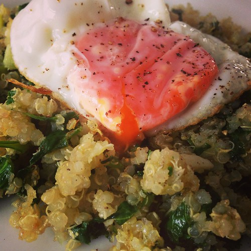 kale quinoa and egg