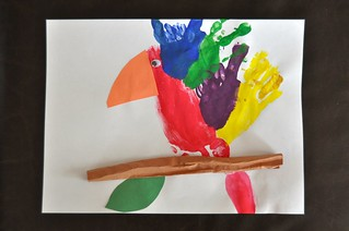 Parrot handprint footprint craft