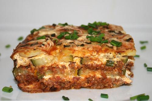 62 - Kartoffel-Zucchini-Moussaka / Potato zucchini moussaka - CloseUp