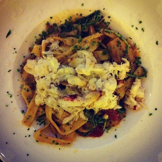 Fettuccine with Dungeness crab
