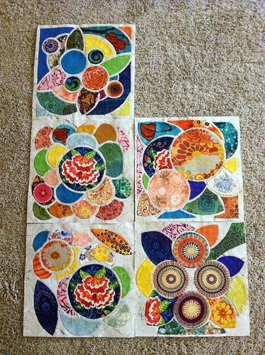 Lotus Tile Quilt UFO
