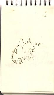 sesión de retrato, como no me sale nada decente me dedico a dibujar perrillos