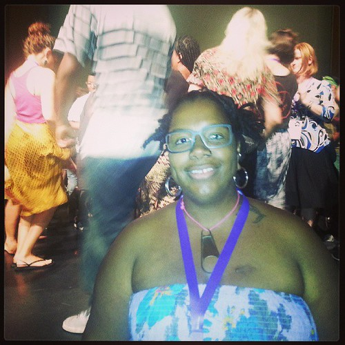 POCZP midwest coordinator Joyce Hatton after dancing on stage at #amc2013 #detroit on June 21, 2013 <3
