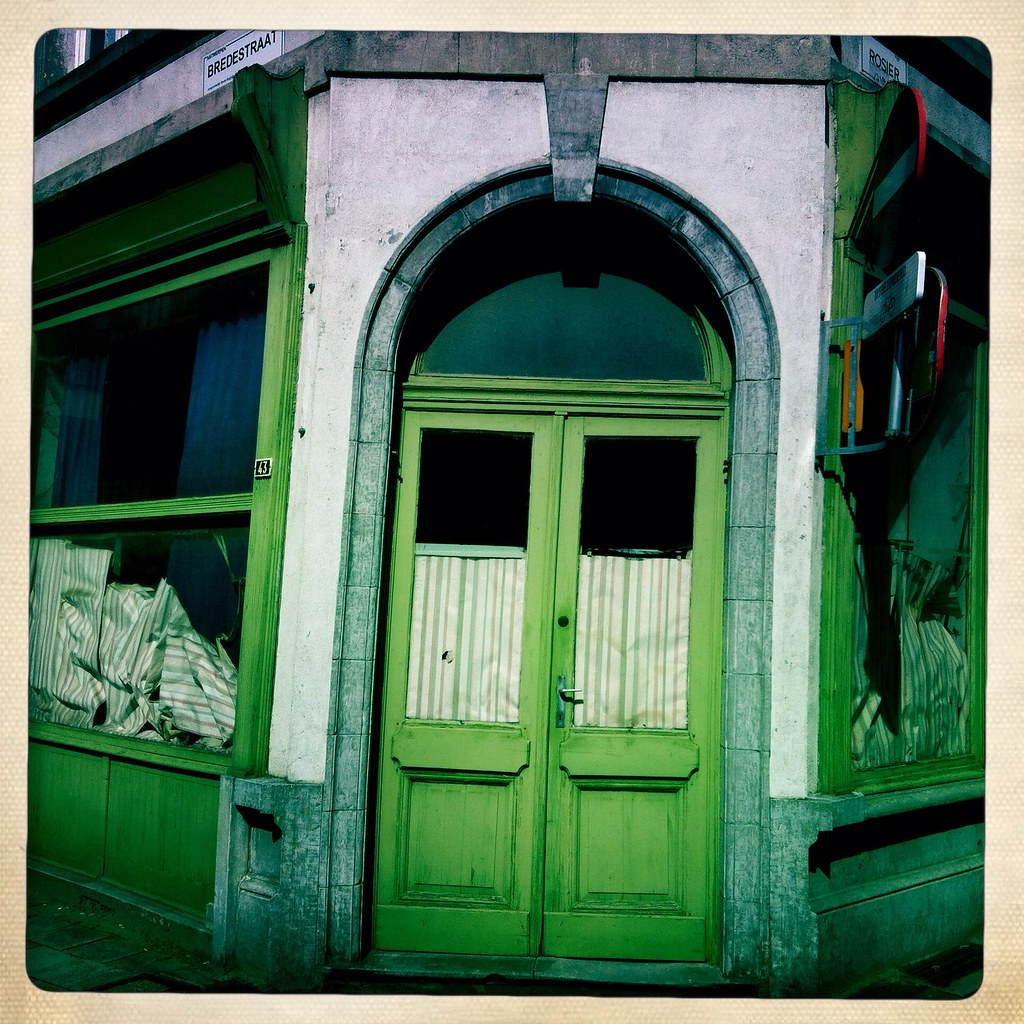 Behind the green door....