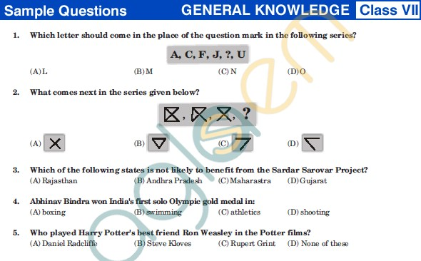 UCO 2013 Sample Papers for ClassVII - GK
