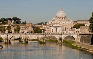 Vatican over Tiber Rive