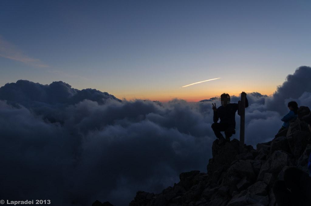 20130803 涸沢岳山頂にて