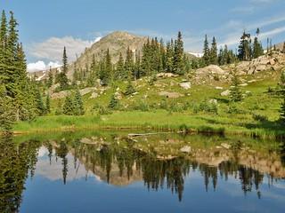 Pond on Devil's Thumb Lake Trail