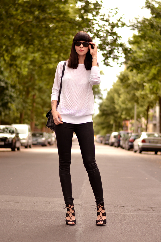 Black White Outfit J Brand Sojeans Sporty Look 10
