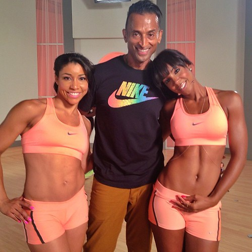 Kelly Rowland shooting her new fitness DVD SEXY ABS CARDIO SCULPT