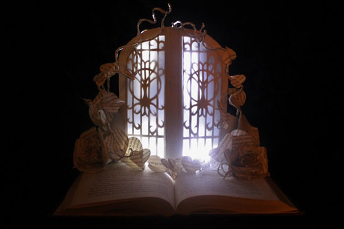 The Fairie Door book sculpture