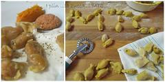 raviole del plin alla zucca profumate al caffè in riduz di parmigiano e pepe vanigliato- nora