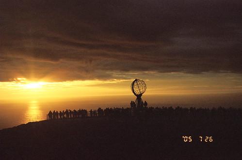 norway sunrise nordkapp 挪威 北角 永晝 日不落 thepolarday