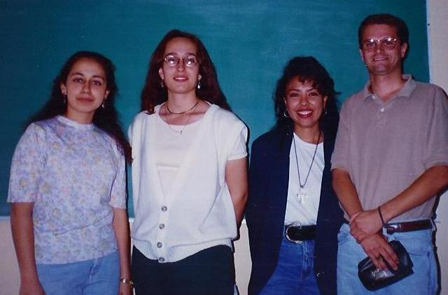 Me With my Spanish Conversation Instructors at the UAG in Guadalajara Mexico 1996. I was 26.