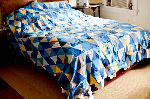 Isosceles Triangle Quilt Top