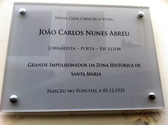 Photo of João Carlos Nunes Abreu white plaque