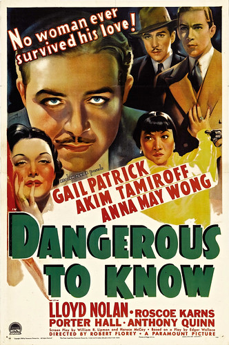 Dangerous to Know (Paramount, 1938). One Sheet (27
