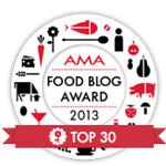 der AMA food blog award 2013 - ich bin dabei