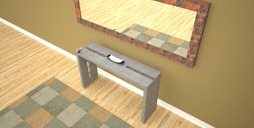 Console hall table designed and created by Designs by Rudy at 108.167.189.34
