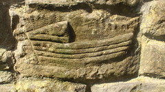 cerflyn o gwch - carving of a boat - staithes