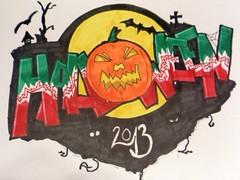 farbige Zeichnung Halloween