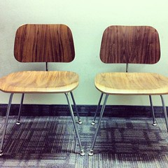 Selling pair of iconic DCM Eames chairs for half price. #vintage #furniture #designer #design #eames #chair #toronto #vintagetoronto #vintagestyle #style #midcentury