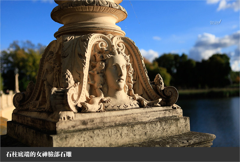 女神臉部石雕