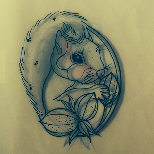 Squirrel neotrad neotraditional tattoo flickr photo sharing