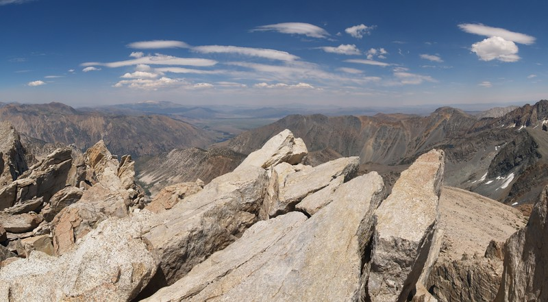 View north from the summit of Matterhorn Peak