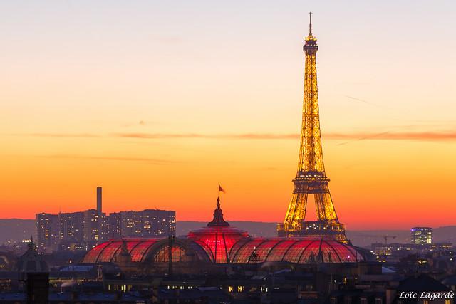 Twilight Eiffel Tower