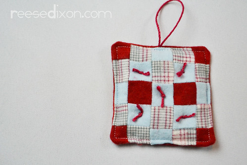 Miniature Quilt Ornament Tutorial Step 6
