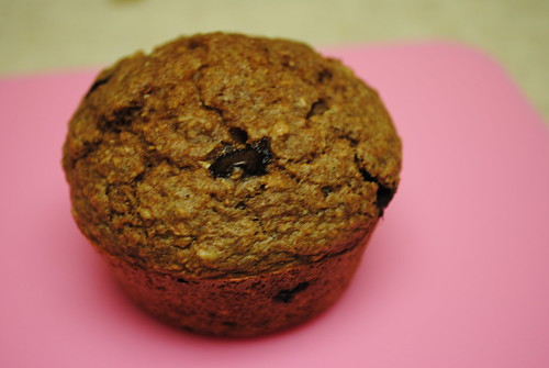 peanut butter chocolate chip bran muffins (3)