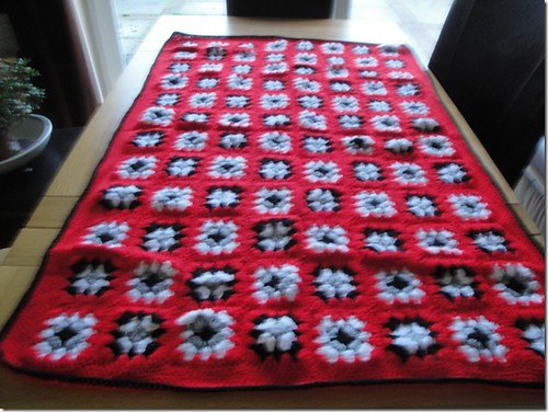 615 'cosseted' Marion made and donated  this Blanket for an Elderly relative. She wants me to count it in.
