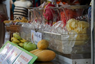 Image of Chatuchak Market near Charoen Pokphand Foods (CPF) Plc. Co. Ltd.. ice apple fruits thailand day time juice bangkok banana watermelon pineapple mango technical chatuchak mochit canonef24105mmf4lis jjmarket canonef24105mmf4lisusm devilfruit photospecs jfpersonal