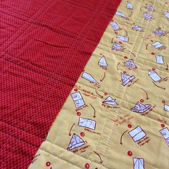 Children at Play Plus Baby Quilt: Back