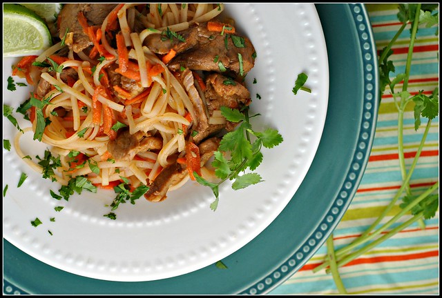 Hoisin Pork with Rice Noodles 2