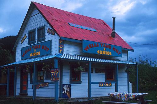 Heritage Store in Wells, Cariboo, British Columbia, Canada