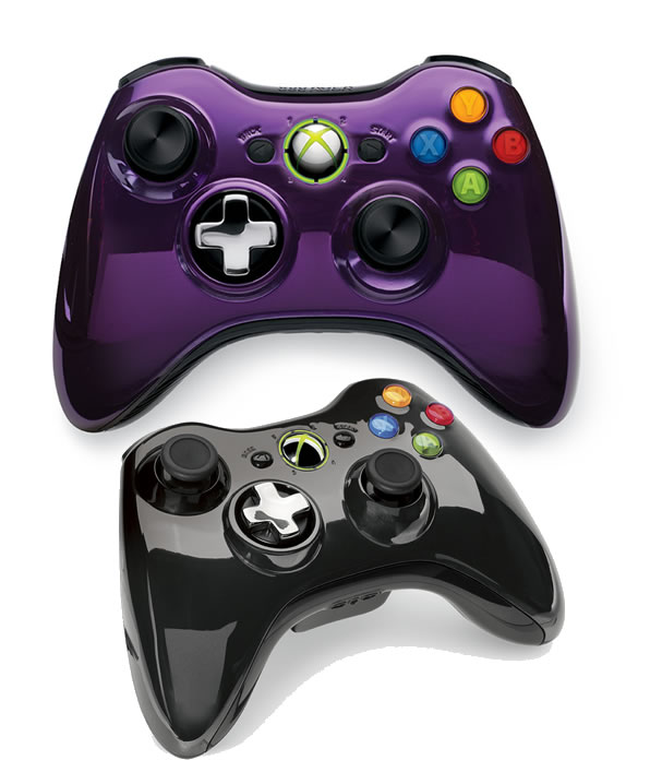 Xbox 360 Special Edition Chrome Series Purple and BlackXbox 360 Controller Chrome Series