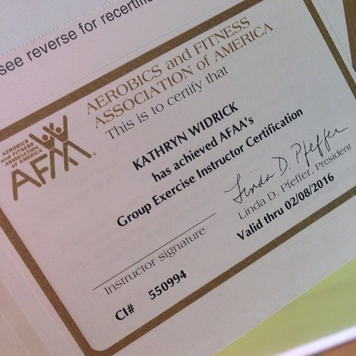 I PASSED!!!!!! I am now officially certified as a group fitness instructor by AFAA!!!!!