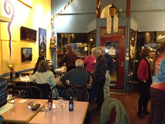 "On April 4, 2012 Nepal Library Foundation (NLF) hosted an ""Appreciation Dinner"" in Café Kathmandu, Vancouver, Canada to recognize local volunteers who have worked tirelessly over the last three years to raise funds for the Foundation."