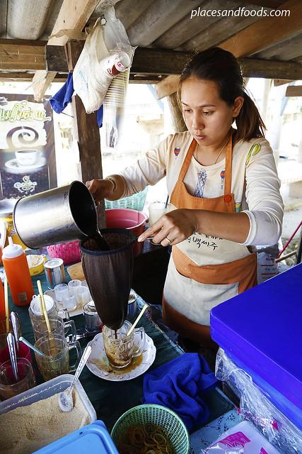 ban khiri wong making coffee