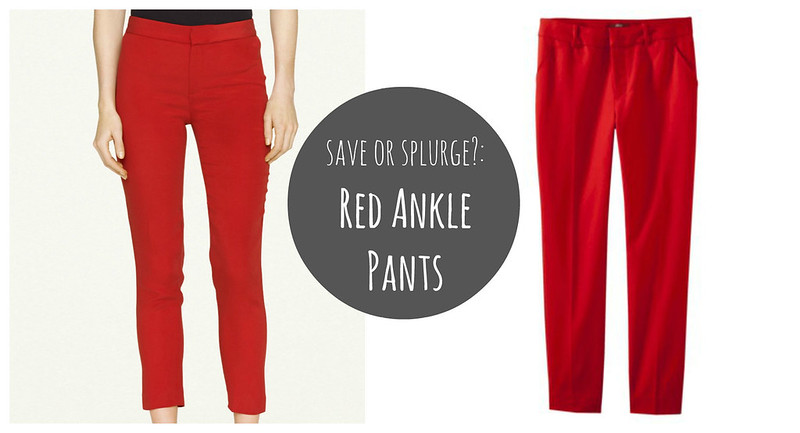 red ankle pants Target