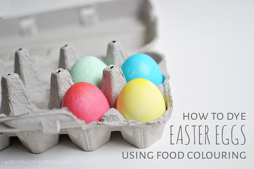 How to Dye Easter Eggs using Food Colouring